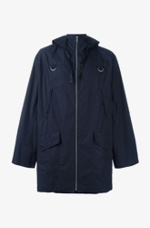 Blue Cotton Pull Parka from Kenzo