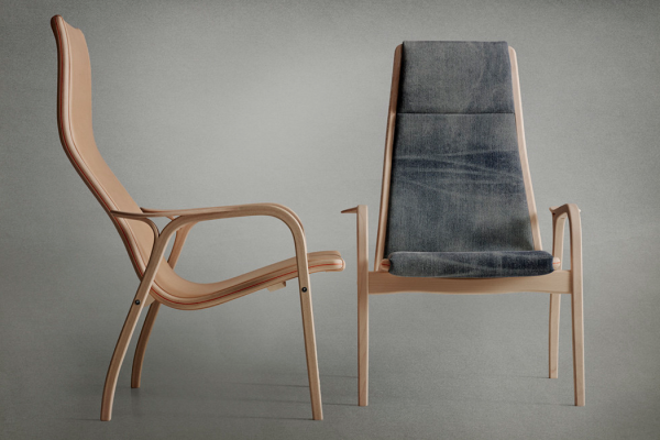 Lamino chair by Swedese x Nudie Jeans