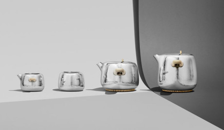 Mammoth Tea Set by Marc Newson and Georg Jensen