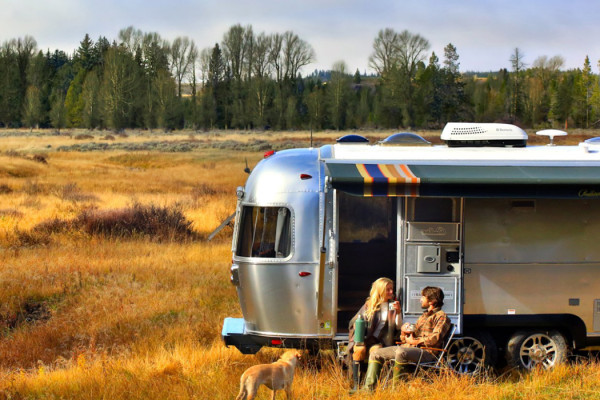 Airstream and Pendleton National Park Travel Trailer