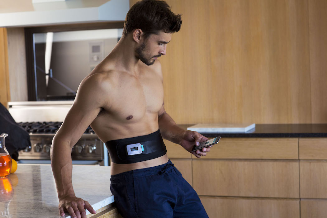 Train your abs with Slendertone