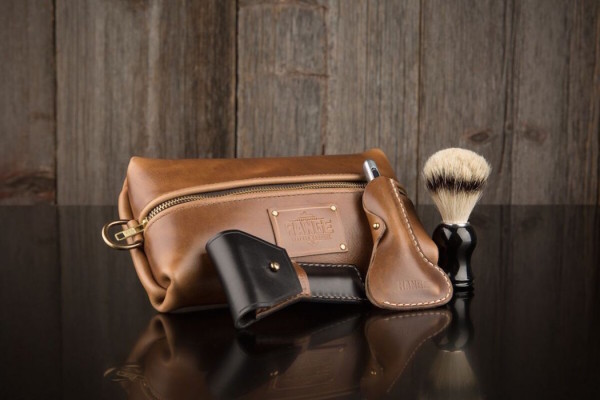 Travel Bag & Razor Case by Range Leather Co.