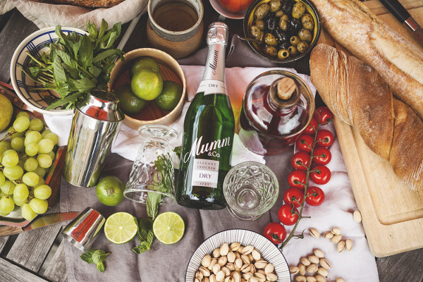 A summer drink for men with Mumm